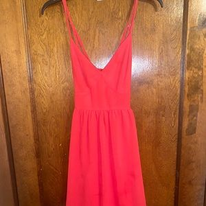 Red casual dress!